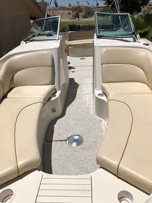 2000-2006 Sea Ray 240 Sundeck PASSENGER BENCH  SEATING CONFIGURATION Snap in Boat Carpet