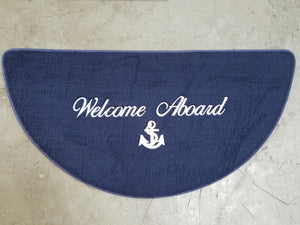 "18"" X 36"" Welcome Aboard Half Moon Mat"
