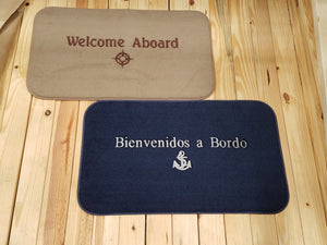"18"" X 30"" Welcome Aboard Mat"