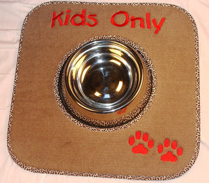 Single Dish Pet Mat