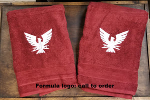 Embroidered 2 Piece Bath Towel Set