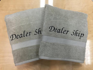 Embroidered Wash Cloths- 2 Piece Set