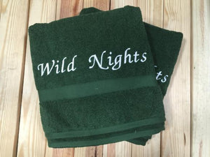 Embroidered  2 Piece Hand Towel Set