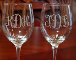 Strahl Engraved Acrylic Wine Glasses- Set of 4