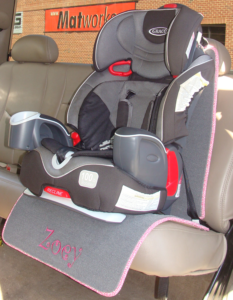 Auto Seat Protector for Child / Baby Seat - Full Length - Matworks ...