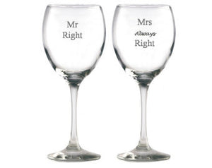 Strahl Engraved Acrylic Wine Glass