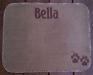 "Personalized Pet Diner Mat 17""X 24"""