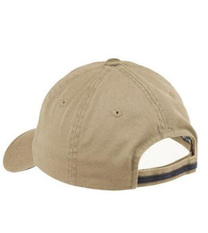 Unisex Sandwich Bill Cap with Striped Closure