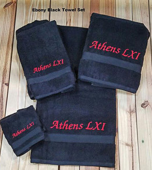 Embroidered  6 Piece Towel Set