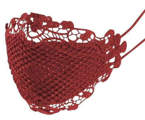 Lacey Mask - Red