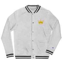 Load image into Gallery viewer, Crown Embroidered Champion Bomber Jacket