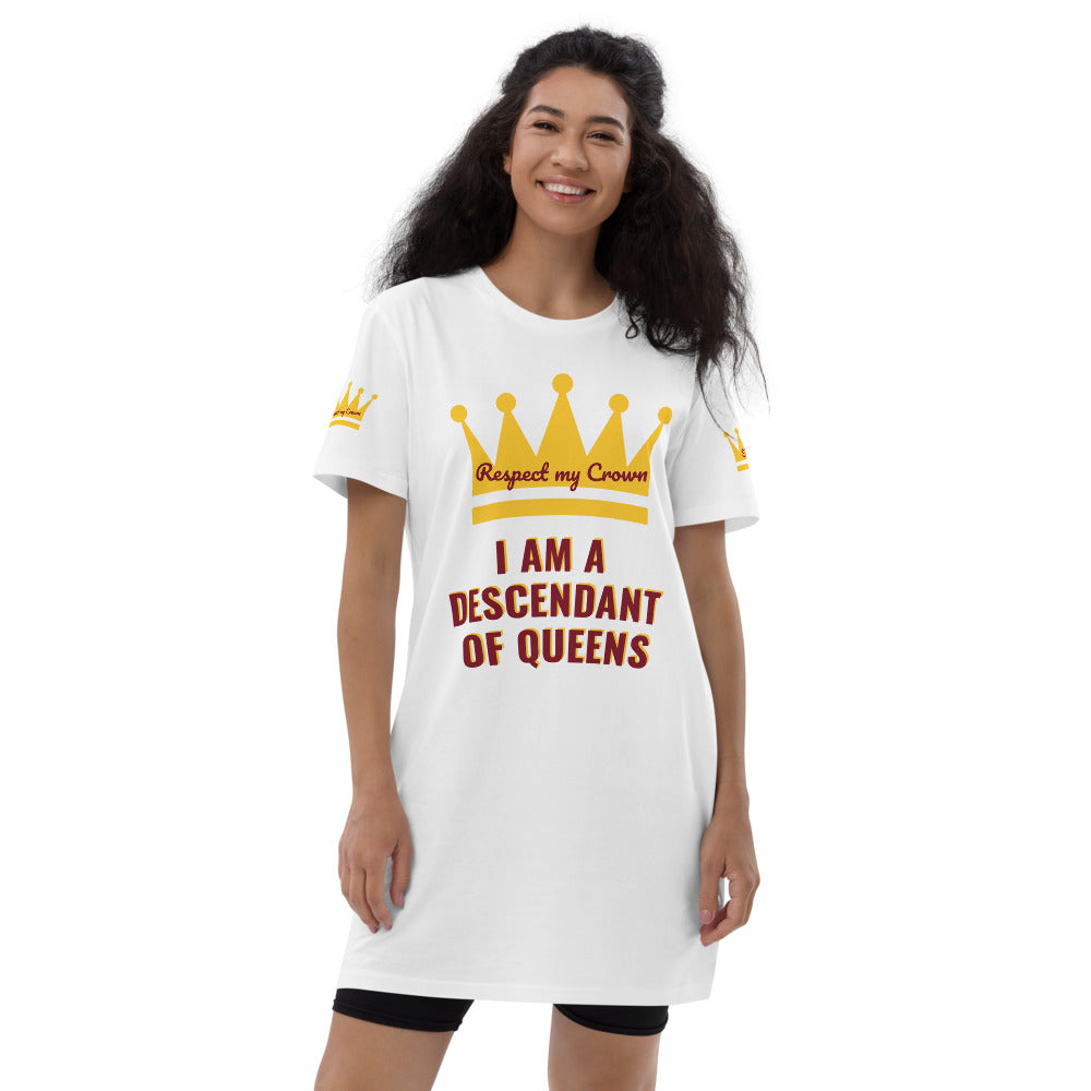 Queen Organic cotton t-shirt dress