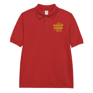 Man of Valor Embroidered Polo Shirt