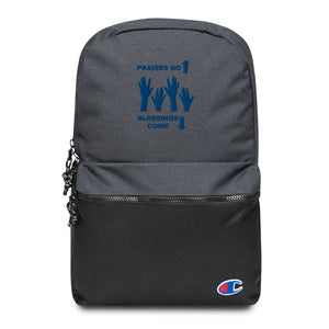 Praises Up Embroidered Champion Backpack