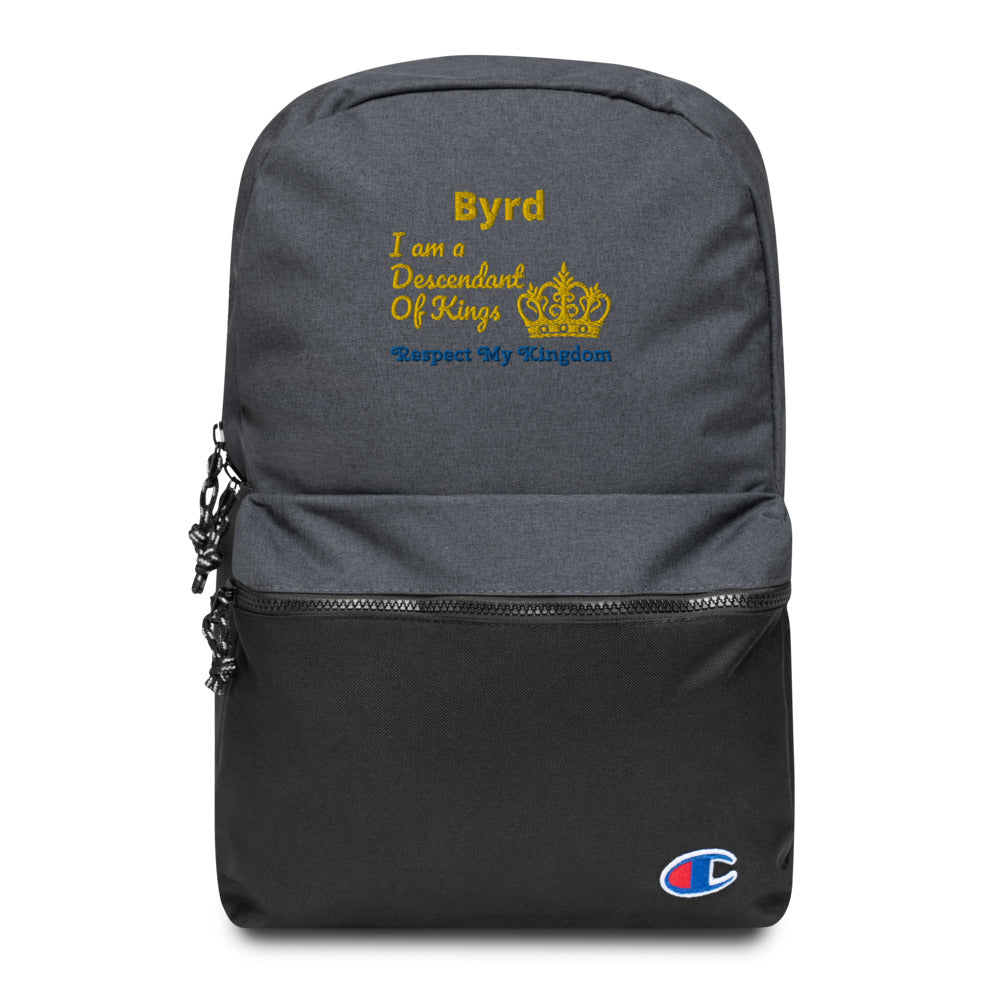 King Embroidered Champion Backpack