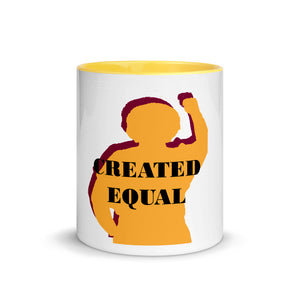 Created Equal Mug with Color Inside