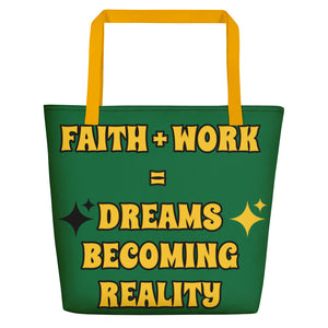Faith + Work Beach Bag