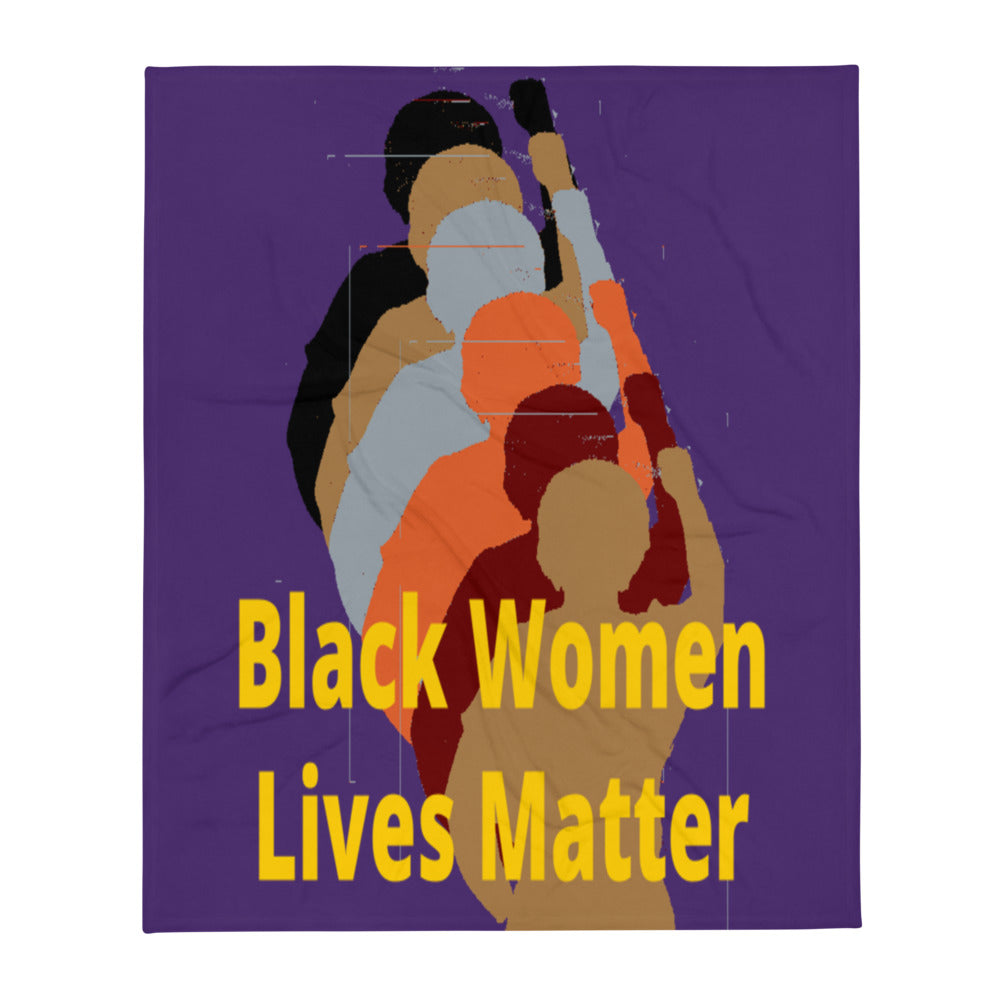 Black Women Lives Matter Throw Blanket