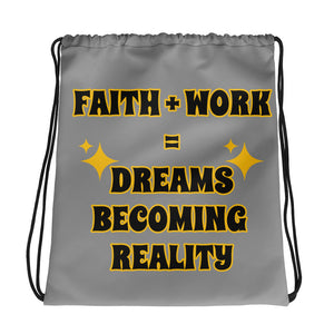 Faith + Work Drawstring bag