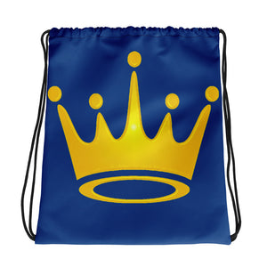 Crown Drawstring bag