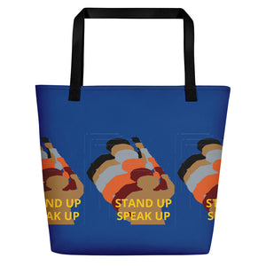 Stand Up-Black Women Lives Matter Beach Bag