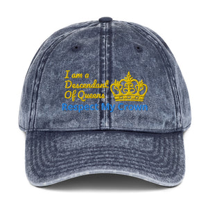 Queen Vintage Cotton Twill Cap