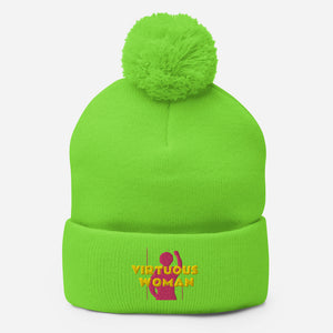 Virtuous Woman Pom-Pom Beanie