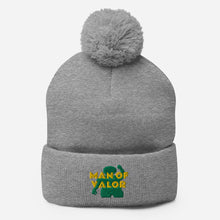 Load image into Gallery viewer, Man of Valor Pom-Pom Beanie