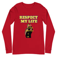 Load image into Gallery viewer, Respect My Life Unisex Long Sleeve Tee