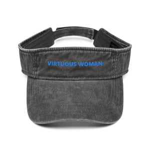 Virtuous Woman Denim visor