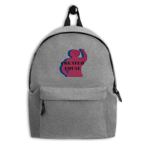 Created Equal Embroidered Backpack