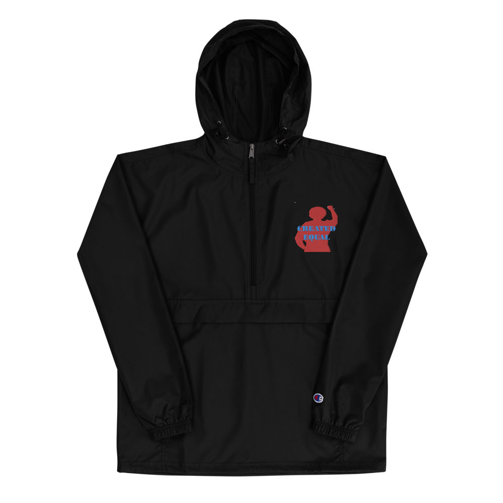 Created Equal Embroidered Champion Packable Jacket