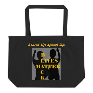 Black Lives Matter Large organic tote bag - Shannon Alicia LLC