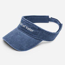 Load image into Gallery viewer, Man of Valor Denim visor