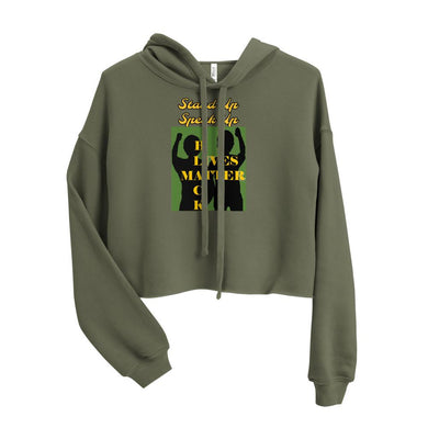Black Lives Matter Crop Hoodie - Shannon Alicia LLC