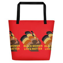 Load image into Gallery viewer, Stand Up-Black Women Lives Matter Beach Bag