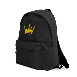 Crown Embroidered Backpack