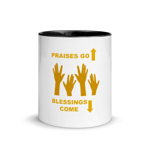 Praises Up Mug with Color Inside