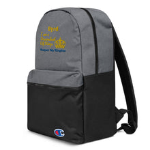 Load image into Gallery viewer, King Embroidered Champion Backpack