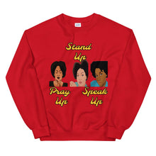 Load image into Gallery viewer, Pray Up-Stand Up-Speak Up Unisex Sweatshirt - Shannon Alicia LLC