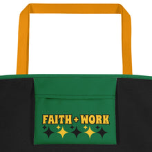 Load image into Gallery viewer, Faith + Work Beach Bag