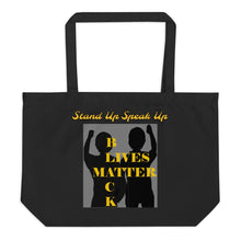 Load image into Gallery viewer, Black Lives Matter Large organic tote bag - Shannon Alicia LLC