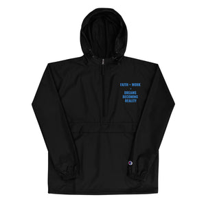 Faith + Work Embroidered Champion Packable Jacket