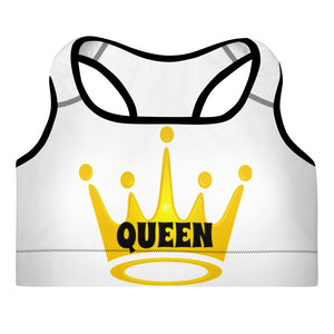 Queen Padded Sports Bra