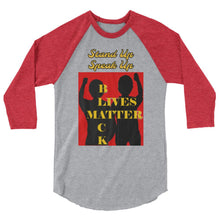 Load image into Gallery viewer, Black Lives Matter 3/4 sleeve raglan shirt - Shannon Alicia LLC