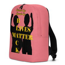 Load image into Gallery viewer, Black Lives Matter Minimalist Backpack