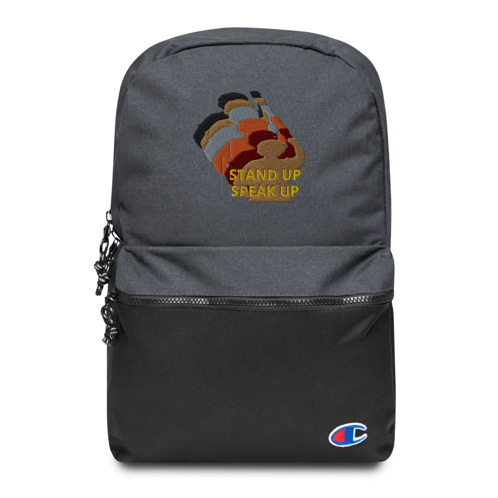 Stand Up-Speak Up Embroidered Champion Backpack
