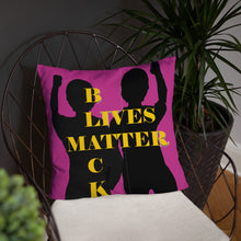Load image into Gallery viewer, Black Lives Matter Basic Pillow