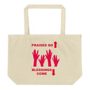 Praises Up Large organic tote bag