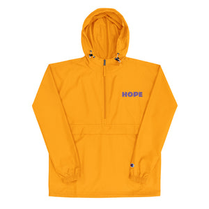 Hope Embroidered Champion Packable Jacket